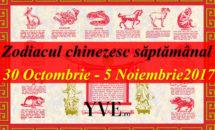 Zodiacul chinezesc săptămânal 30 Octombrie - 5 Noiembrie 2017