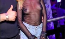 Cum a apărut îmbrăcată Alexandra Stan, la un concert din Roma