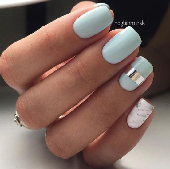 model de unghii simple pentru acasa