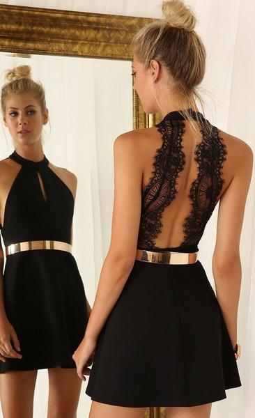 rochie fara spate neagra