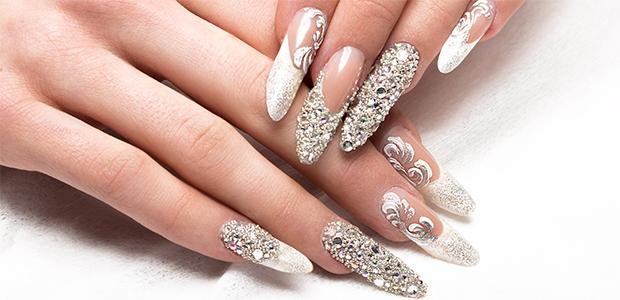 unghii gel argintii