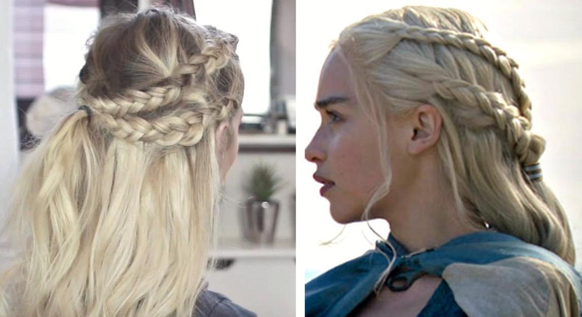 Coafuri elegante tip Khaleesi