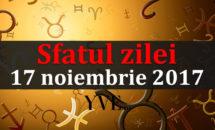 Sfatul zilei 17 noiembrie 2017