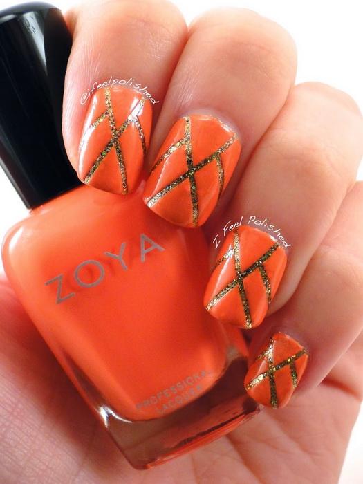 model unghii portocalii