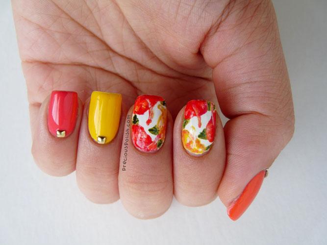 unghii colorate cu gel