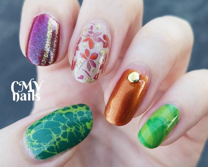 unghii colorate pentru toamna 2020