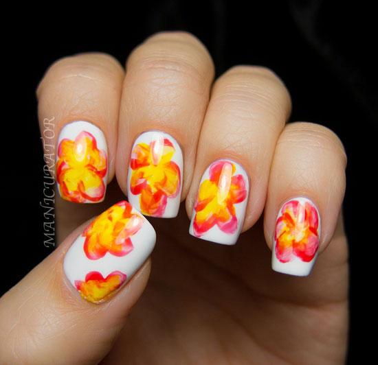 unghii cu gel cu flori