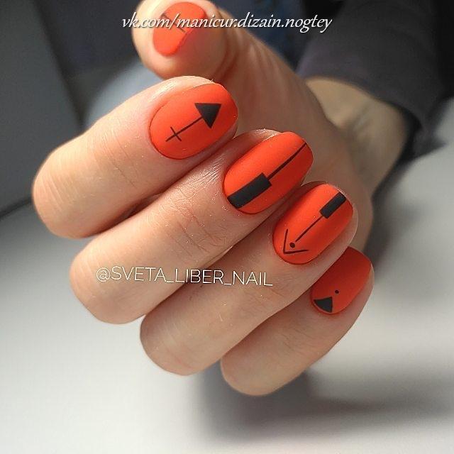 unghii cu sageata