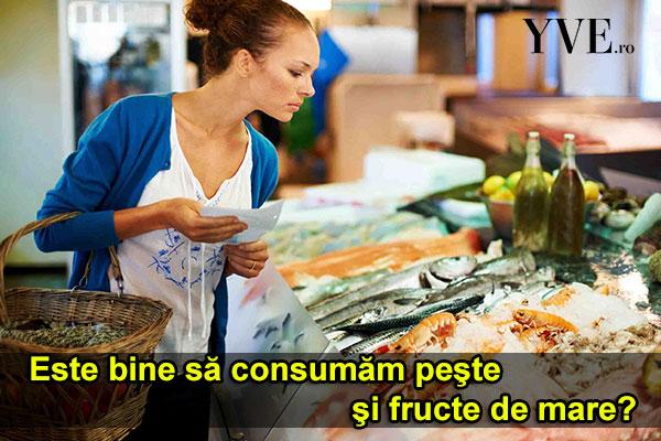 Cât de des este bine să consumăm peşte şi fructe de mare