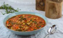 Ciorba de legume cu paste din orez