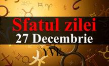 Sfatul zilei 27 Decembrie: Racii ar trebui sa se gandeasca mai mult la cei din jurul lor