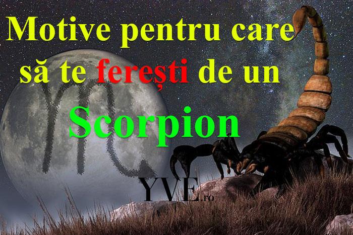 Motive pentru care sa te feresti de un Scorpion