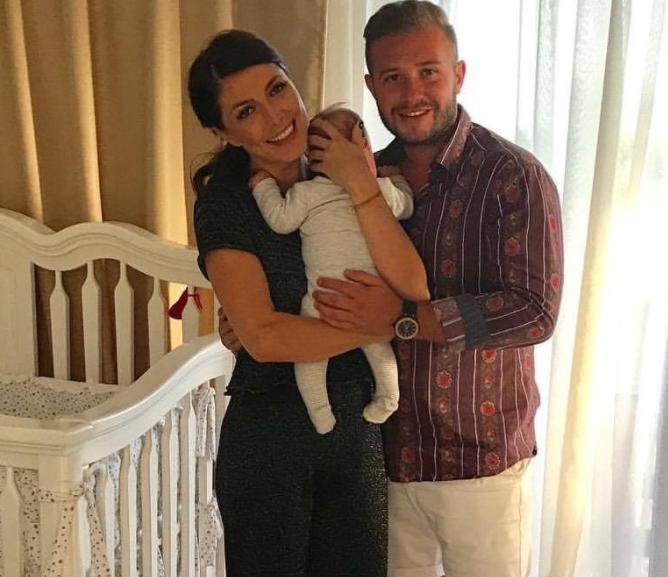 Ilinca Vandici impreuna cu sotul si fiul lor
