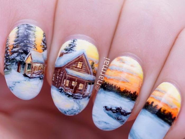 peisaj de iarna pictat pe unghii.jpg