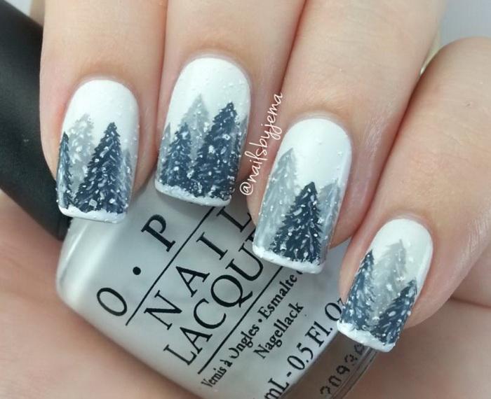 unghii pictate Iarna