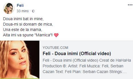 Cantareata Feli a anuntat ca este insarcinata! Metoda inedita aleasa de artista