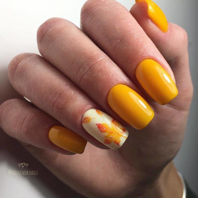 Modele unghii 2020 portocalii