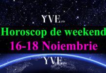 Horoscop de weekend 16-18 Noiembrie 2018