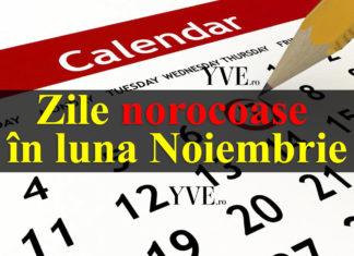 Zile norocoase în luna Noiembrie