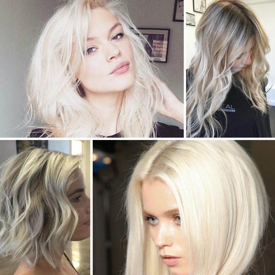 Coafuri păr mediu 2019 blond