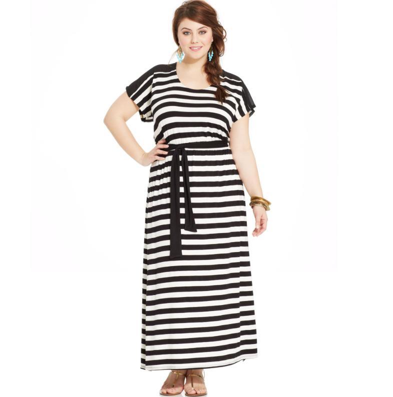 Rochie de seara pentru femei plinute si scunde cu linii verticale