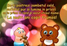 mesaje de la multi ani pentru copii