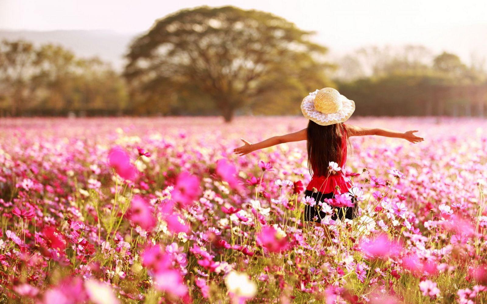 camp cu flori primavara