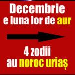 Decembrie e luna lor de aur