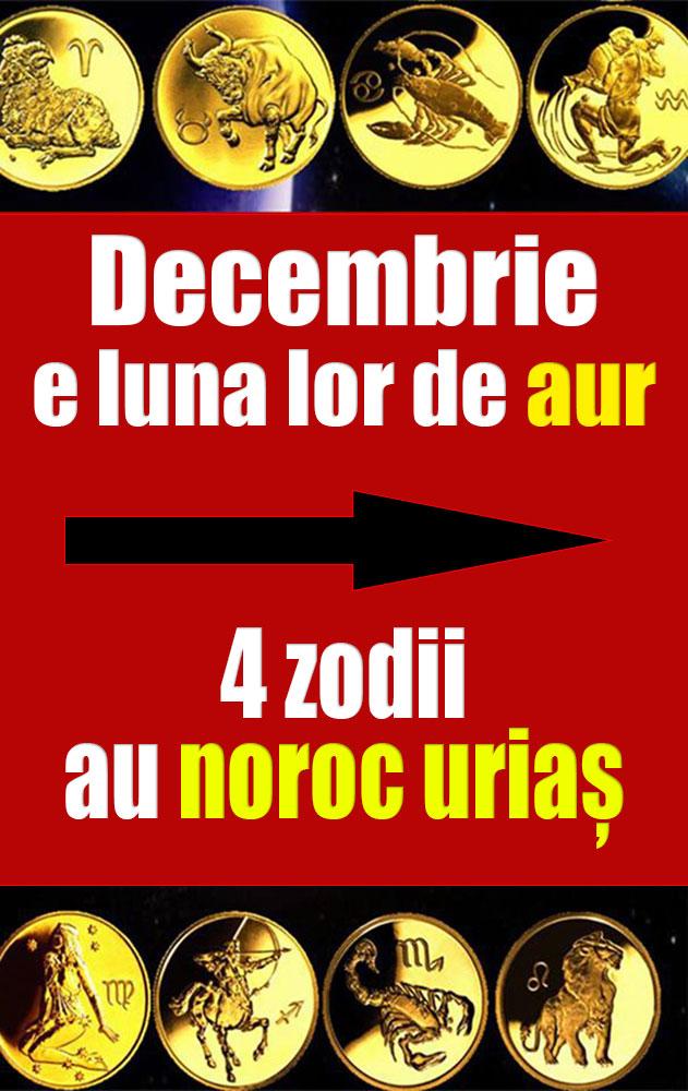 Decembrie e luna lor de aur! 4 zodii au noroc uriaș!