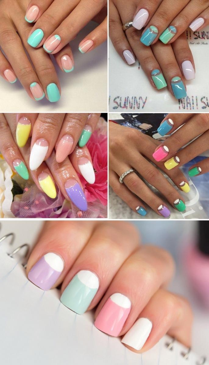 modele unghii gel colorate