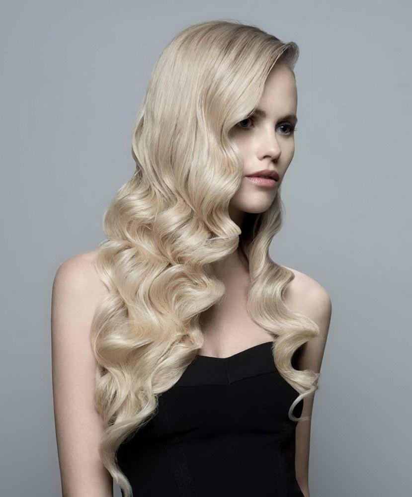 tunsori par blond ondulat