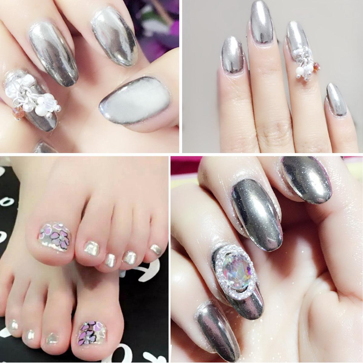 unghii argintii cu gel
