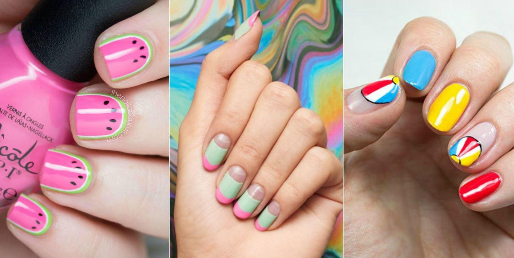 unghii cu gel colorate