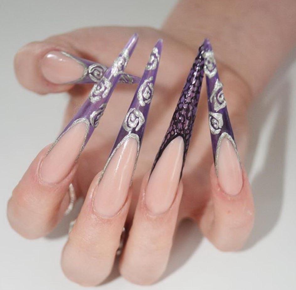 unghii cu gel foarte lungi