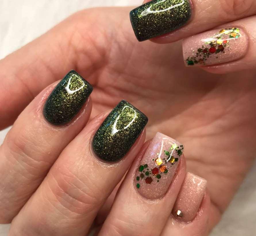 unghii de toamna smarald