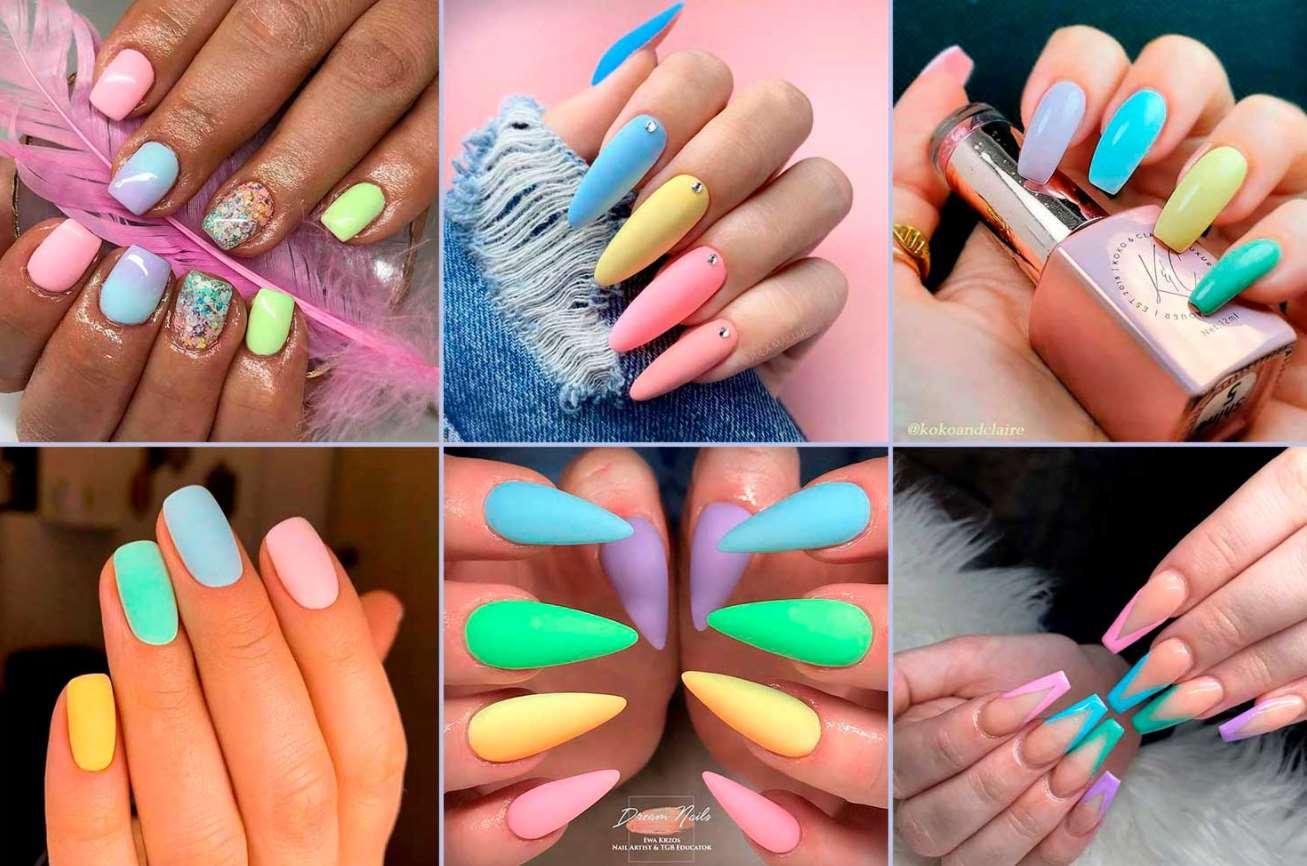 unghii multicolore